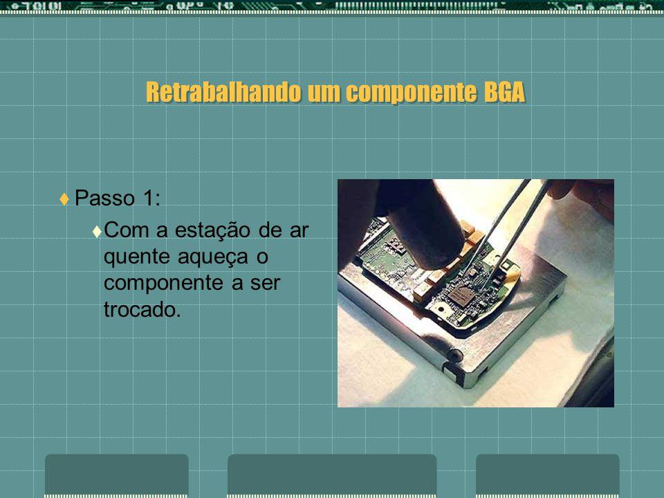 Retrabalhando um componente BGA