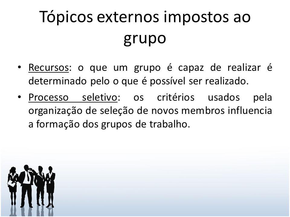 Tópicos externos impostos ao grupo