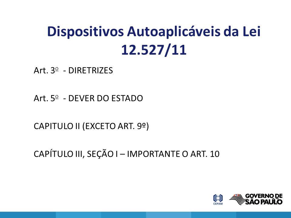 Dispositivos Autoaplicáveis da Lei 12.527/11