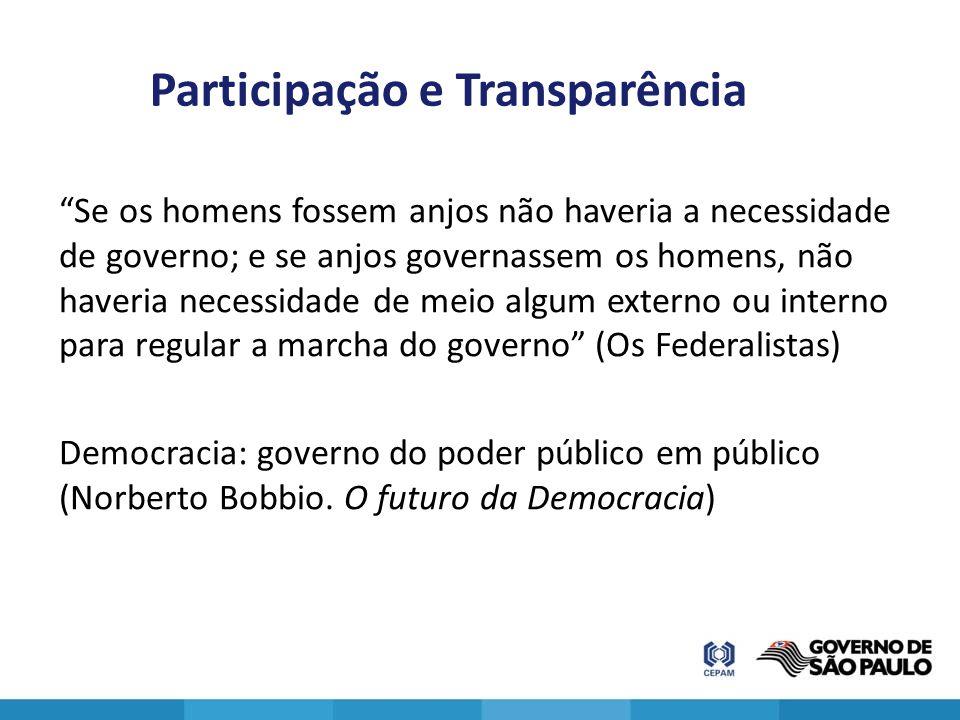 Participação e Transparência