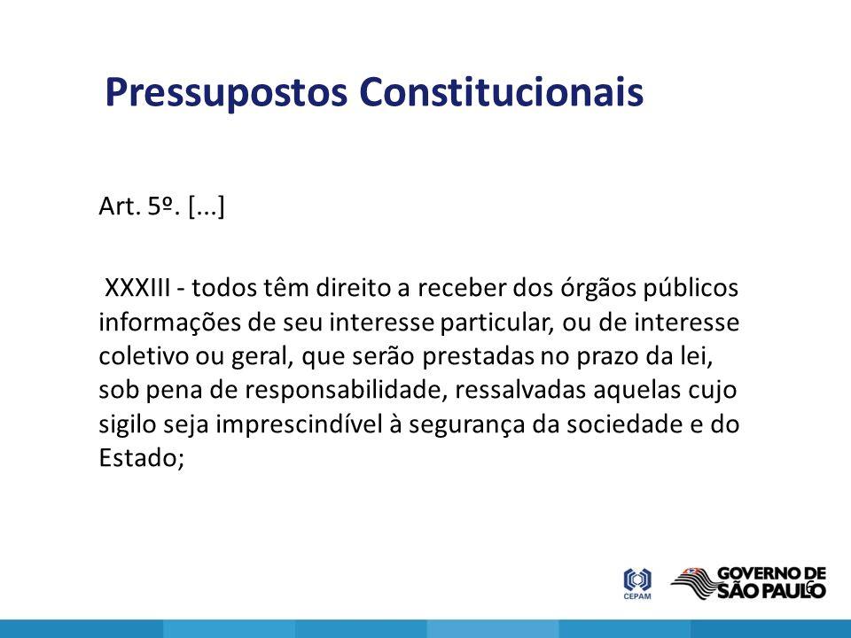 Pressupostos Constitucionais