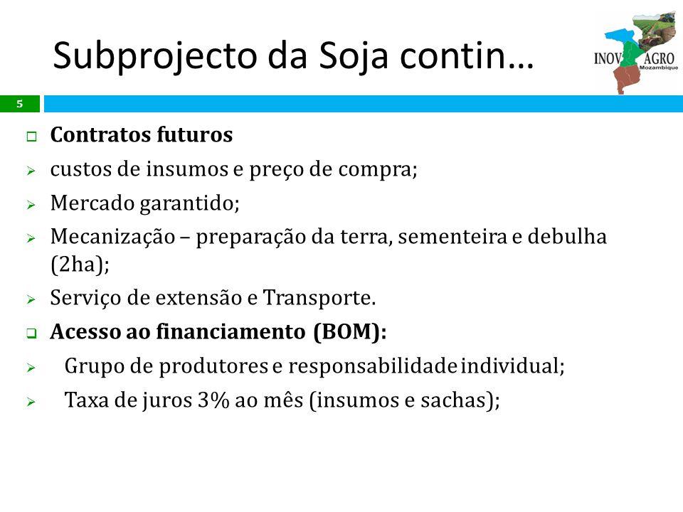 Subprojecto da Soja contin…