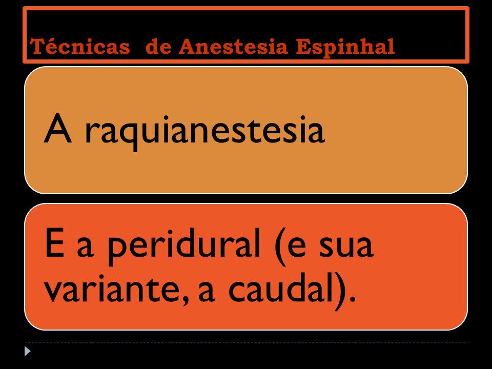 Técnicas de Anestesia Espinhal