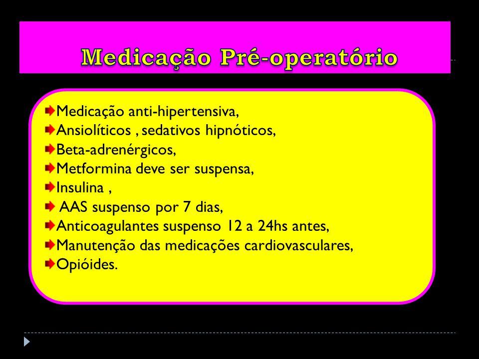 Medicação Pré-operatório