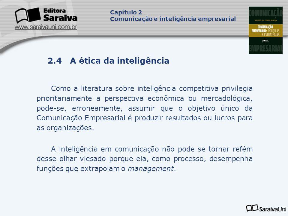 2.4 A ética da inteligência