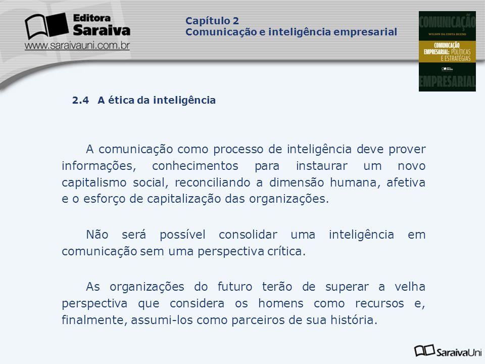 Capítulo 2 Comunicação e inteligência empresarial. Capa. da Obra. 2.4 A ética da inteligência.