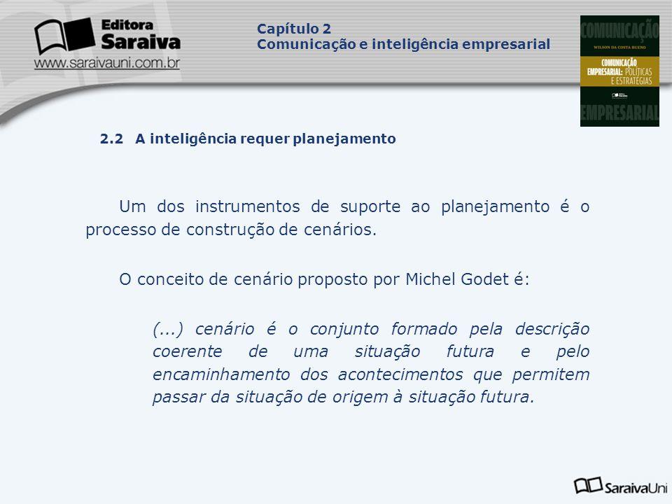 O conceito de cenário proposto por Michel Godet é: