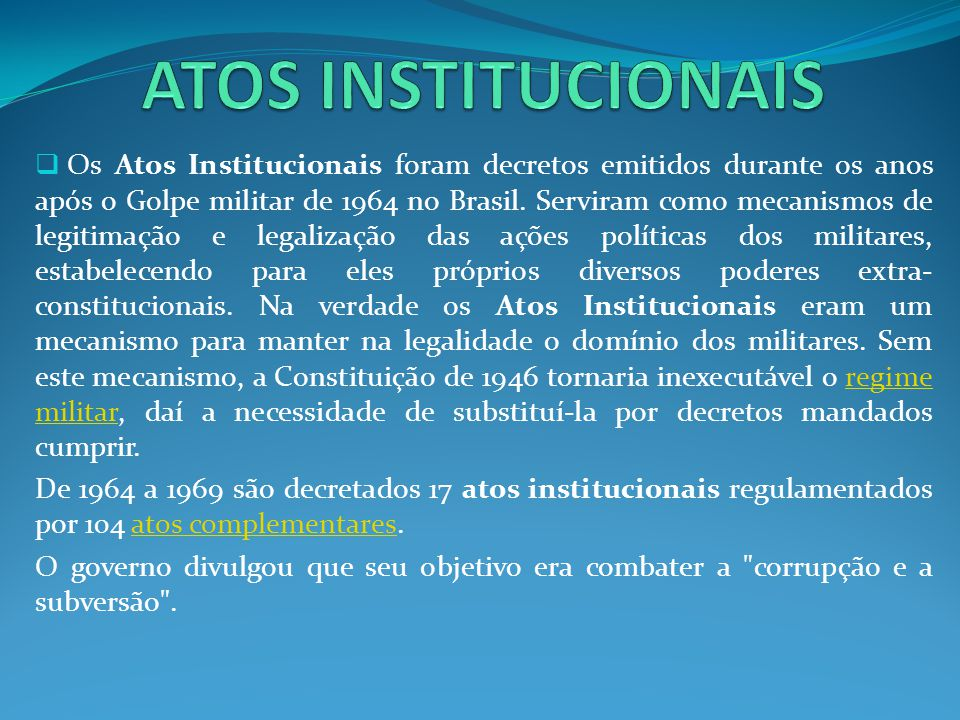 ATOS INSTITUCIONAIS