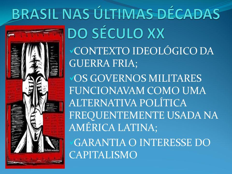 BRASIL NAS ÚLTIMAS DÉCADAS DO SÉCULO XX