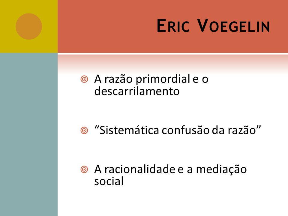 Eric Voegelin A razão primordial e o descarrilamento
