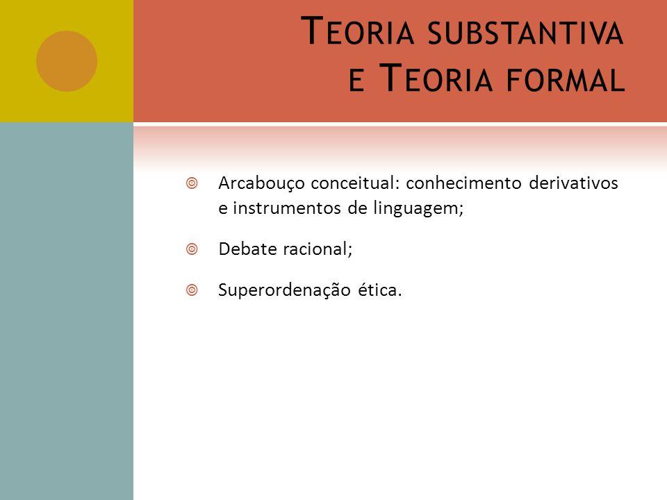 Teoria substantiva e Teoria formal