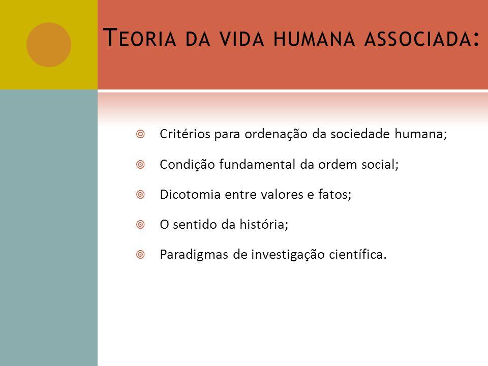 Teoria da vida humana associada: