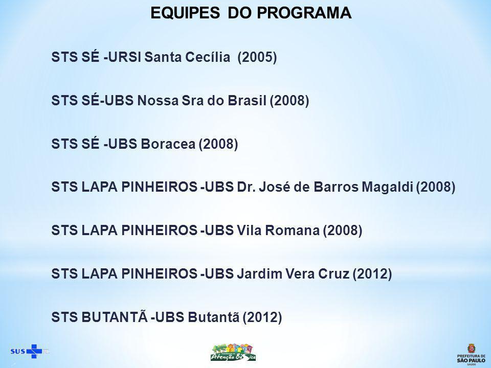 EQUIPES DO PROGRAMA STS SÉ -URSI Santa Cecília (2005)