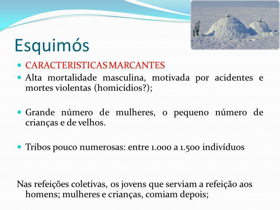 Esquimós CARACTERISTICAS MARCANTES