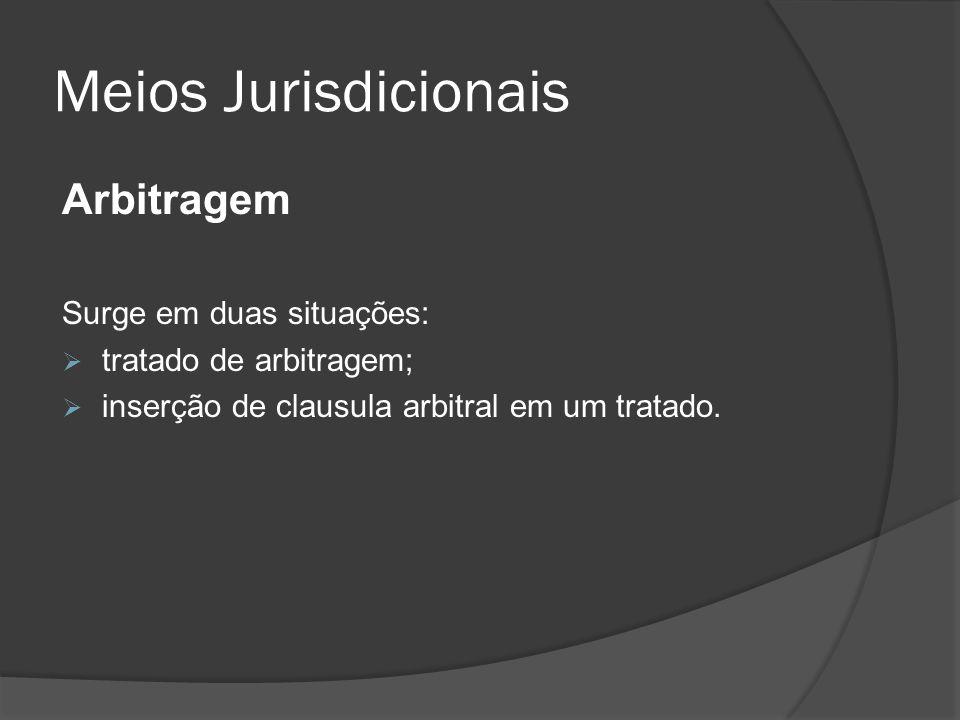 Meios Jurisdicionais Arbitragem Surge em duas situações:
