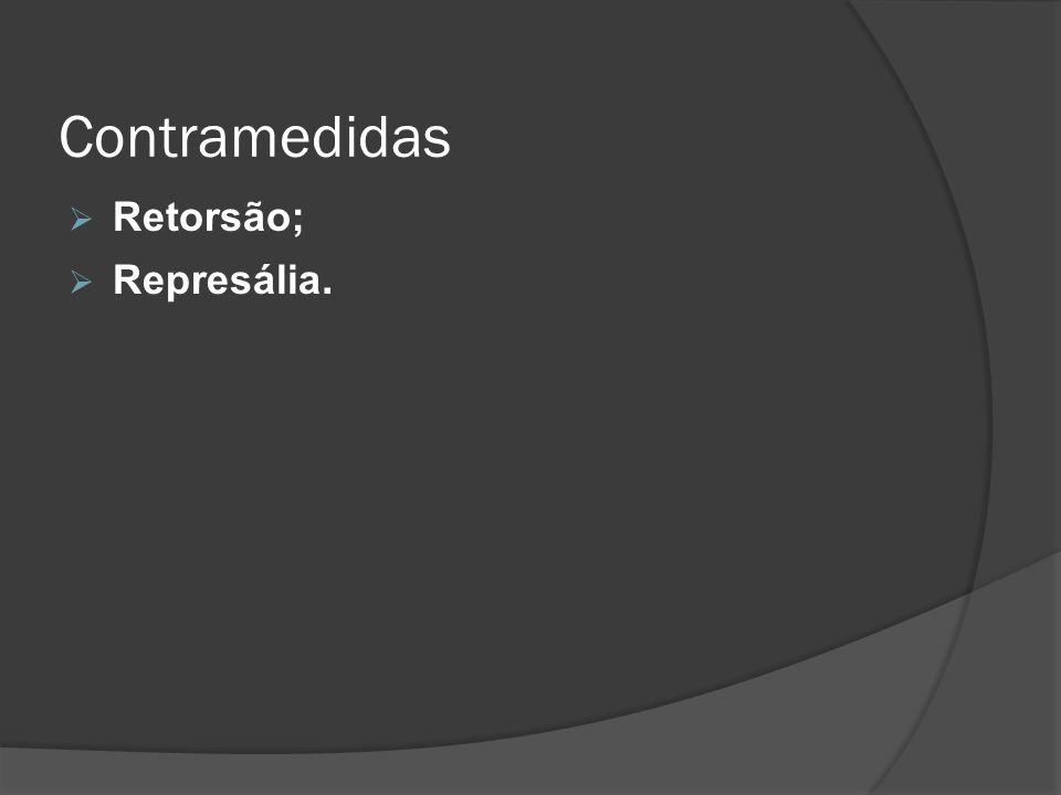Contramedidas Retorsão; Represália.