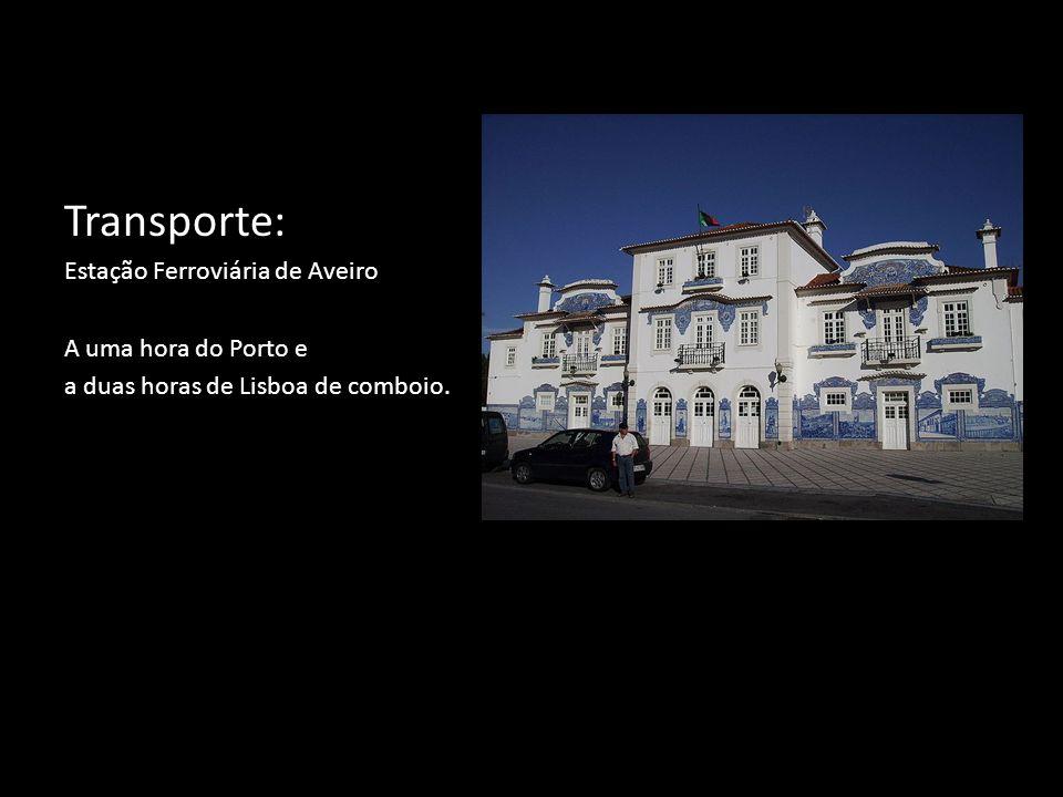 Transporte: Estação Ferroviária de Aveiro A uma hora do Porto e