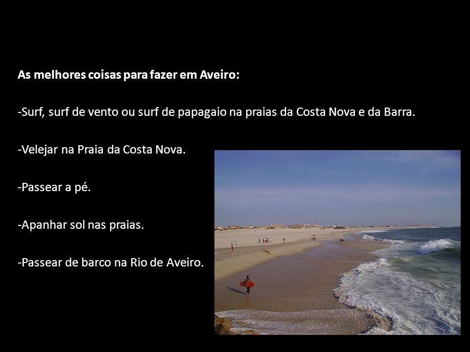As melhores coisas para fazer em Aveiro:
