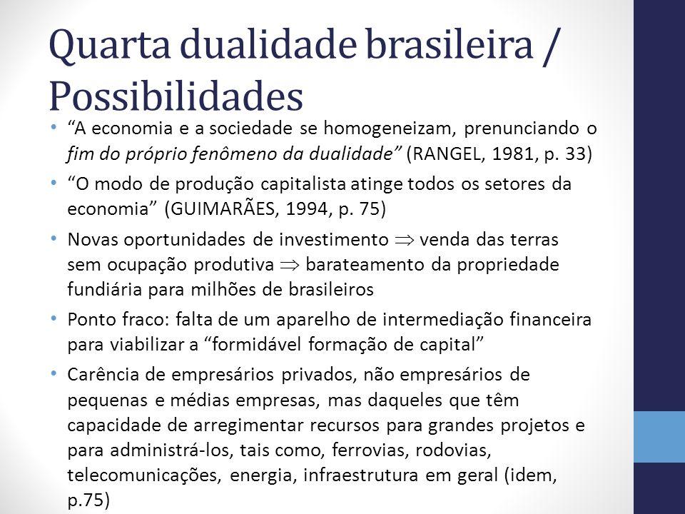 Quarta dualidade brasileira / Possibilidades