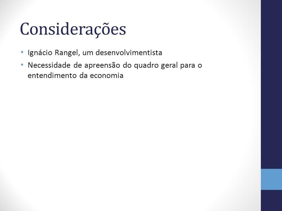 Considerações Ignácio Rangel, um desenvolvimentista