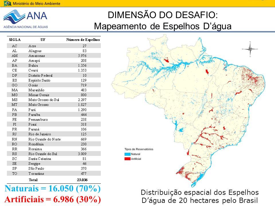 Naturais = 16.050 (70%) Artificiais = 6.986 (30%)