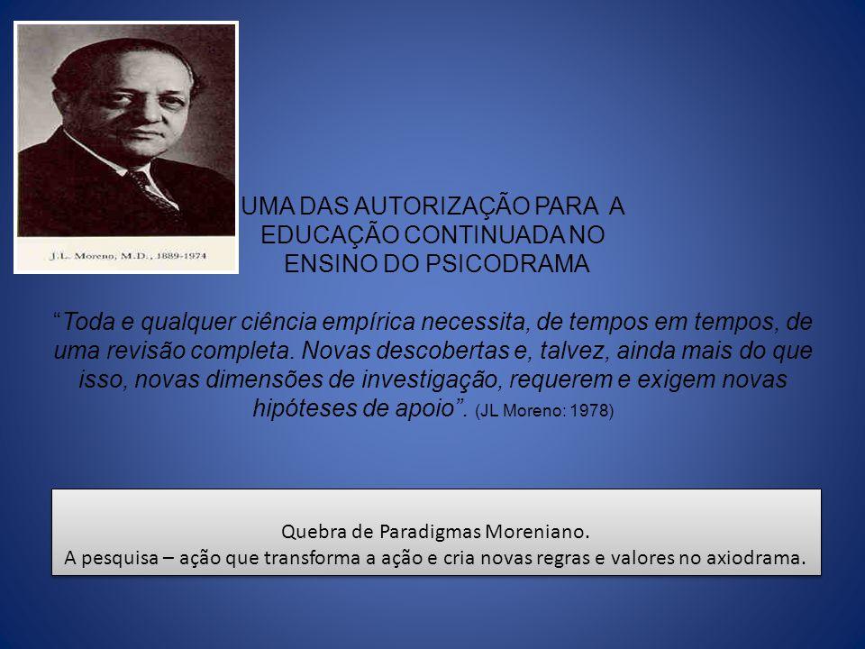 Quebra de Paradigmas Moreniano.