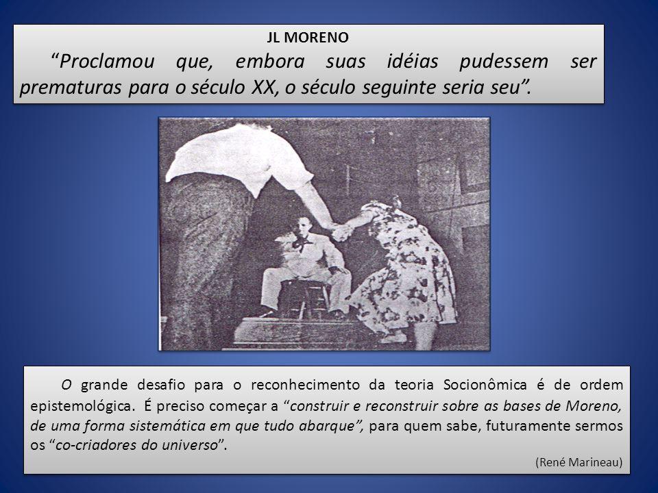 JL MORENO Proclamou que, embora suas idéias pudessem ser prematuras para o século XX, o século seguinte seria seu .