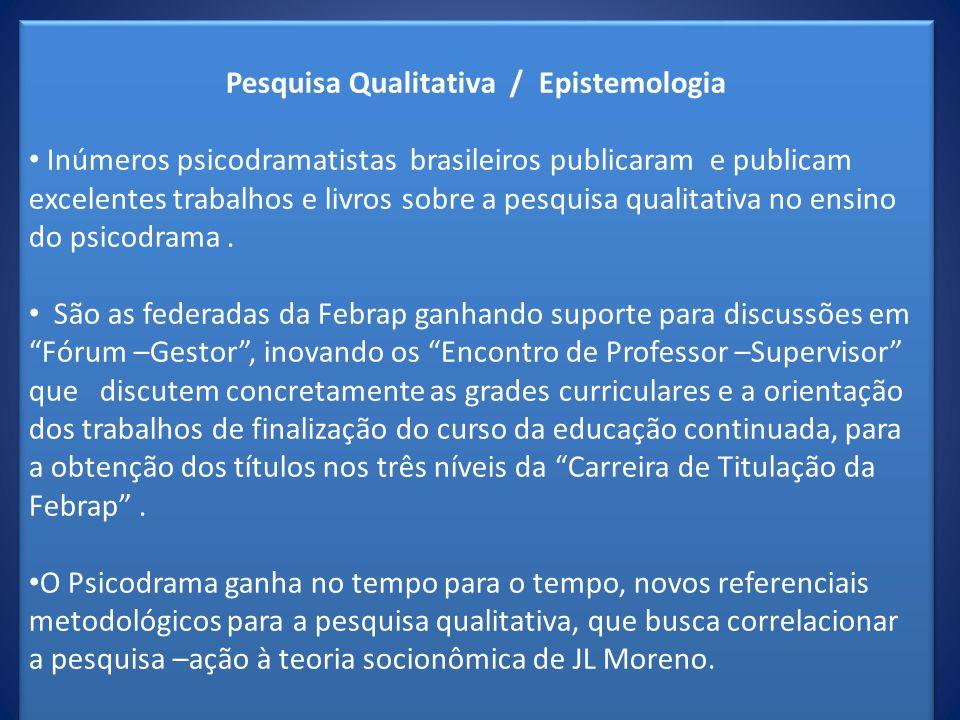 Pesquisa Qualitativa / Epistemologia