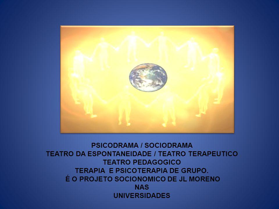 PSICODRAMA / SOCIODRAMA TEATRO DA ESPONTANEIDADE / TEATRO TERAPEUTICO