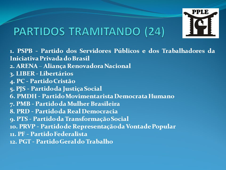 PARTIDOS TRAMITANDO (24)