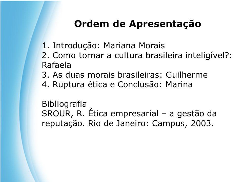Ordem de Apresentação 1. Introdução: Mariana Morais
