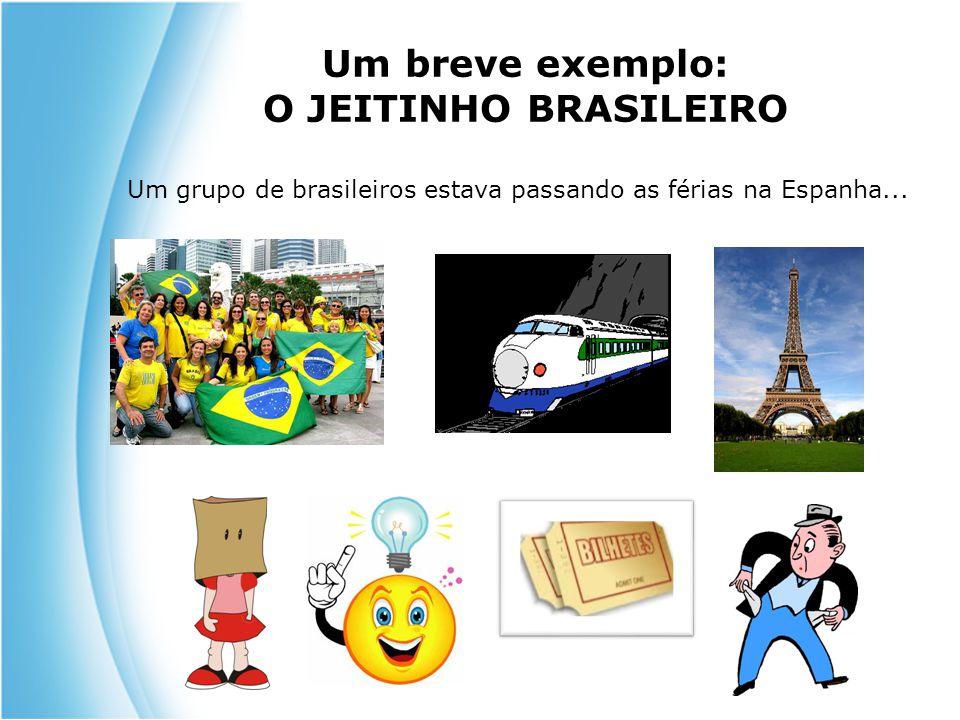 Um breve exemplo: O JEITINHO BRASILEIRO