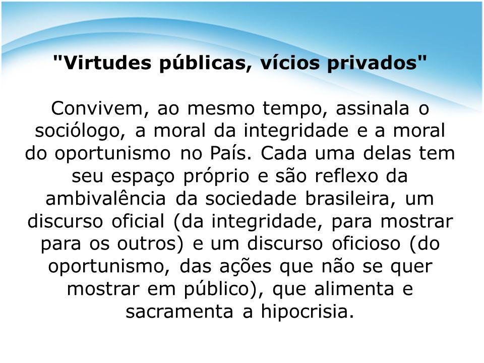 Virtudes públicas, vícios privados