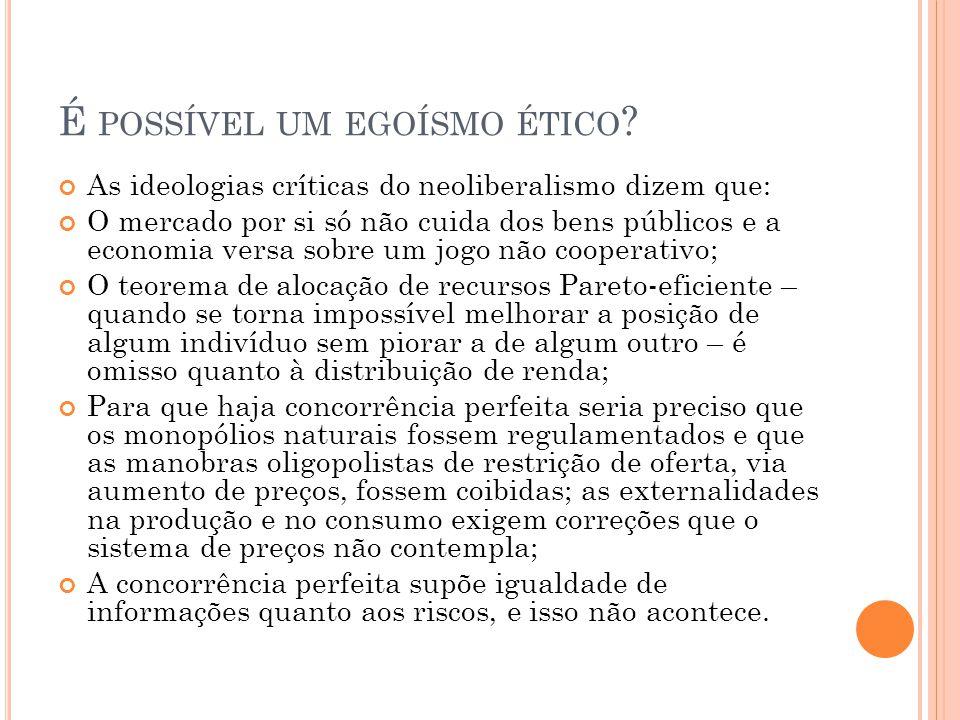 É possível um egoísmo ético