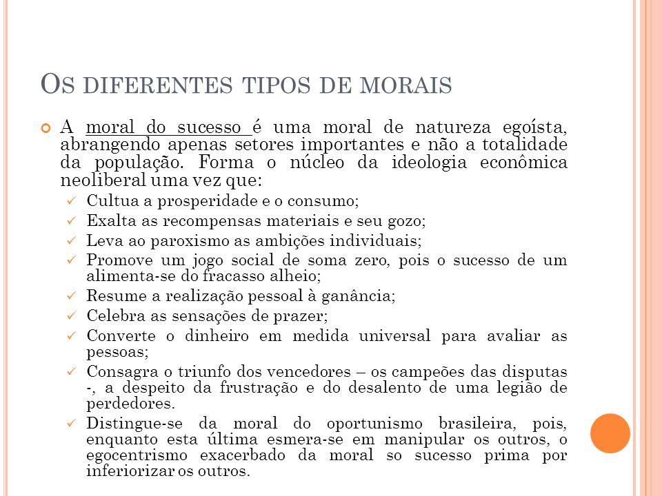 Os diferentes tipos de morais