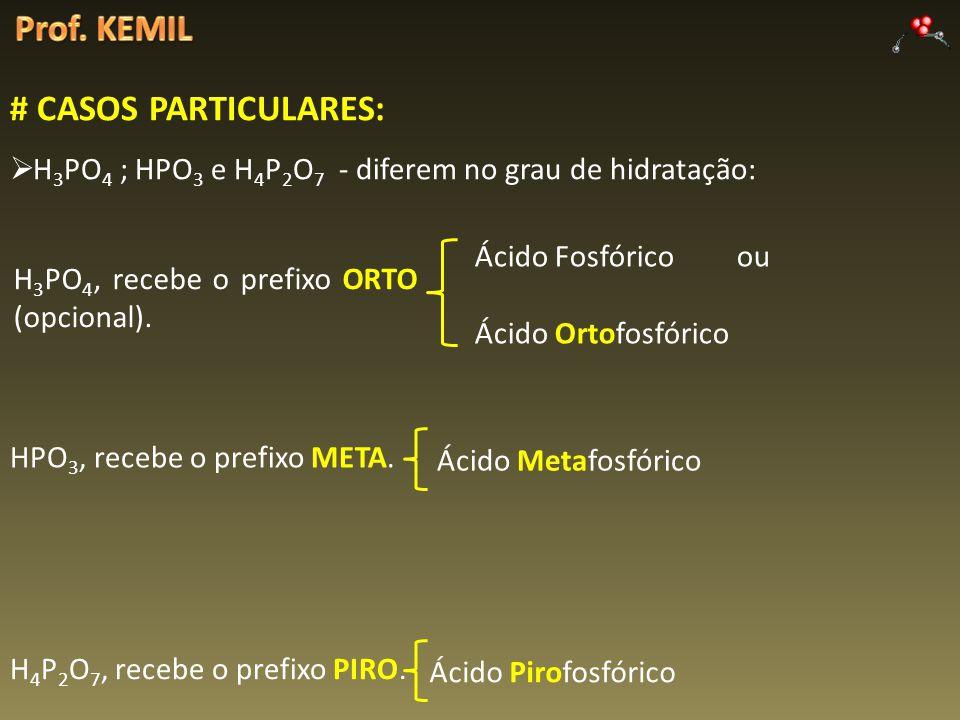 Prof. KEMIL # CASOS PARTICULARES: