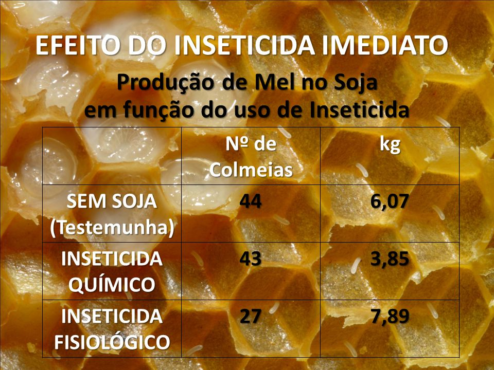 EFEITO DO INSETICIDA IMEDIATO