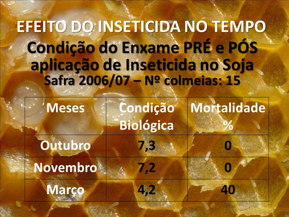 EFEITO DO INSETICIDA NO TEMPO
