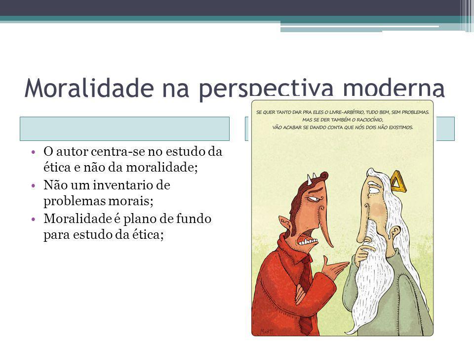 Moralidade na perspectiva moderna