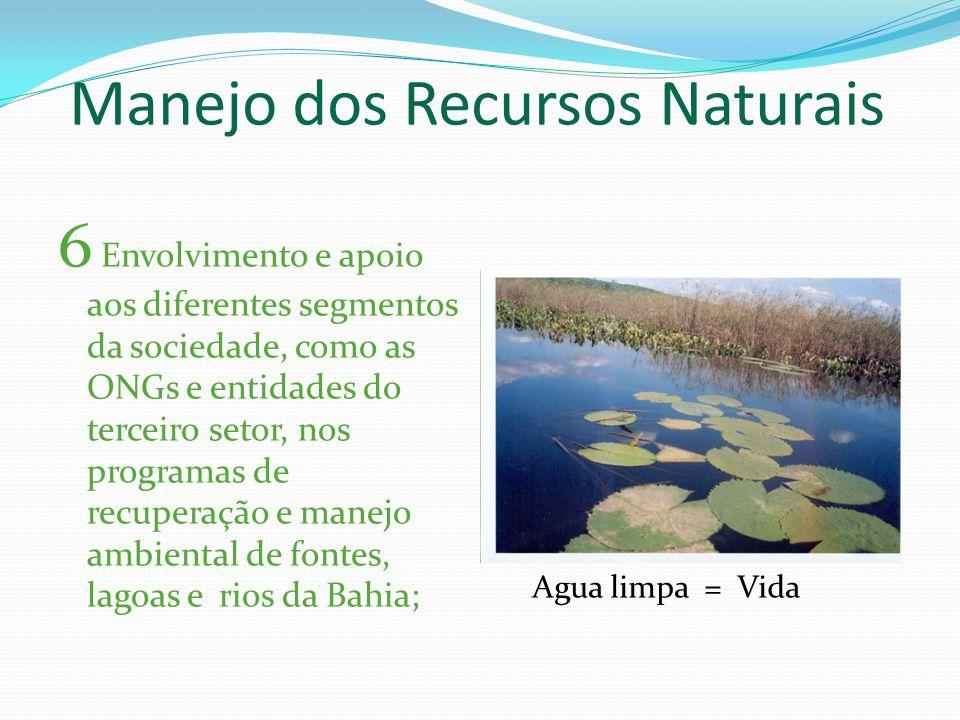 Manejo dos Recursos Naturais