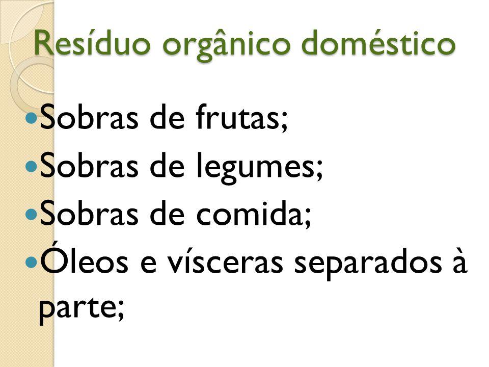 Resíduo orgânico doméstico