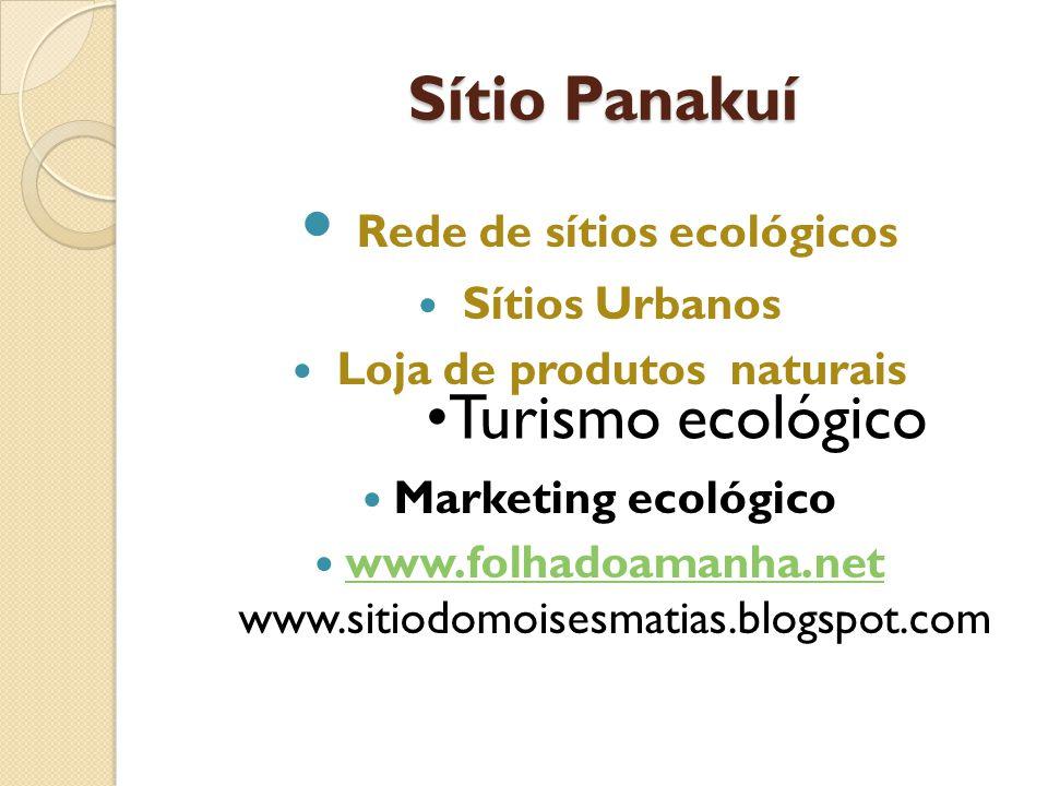 Rede de sítios ecológicos Loja de produtos naturais