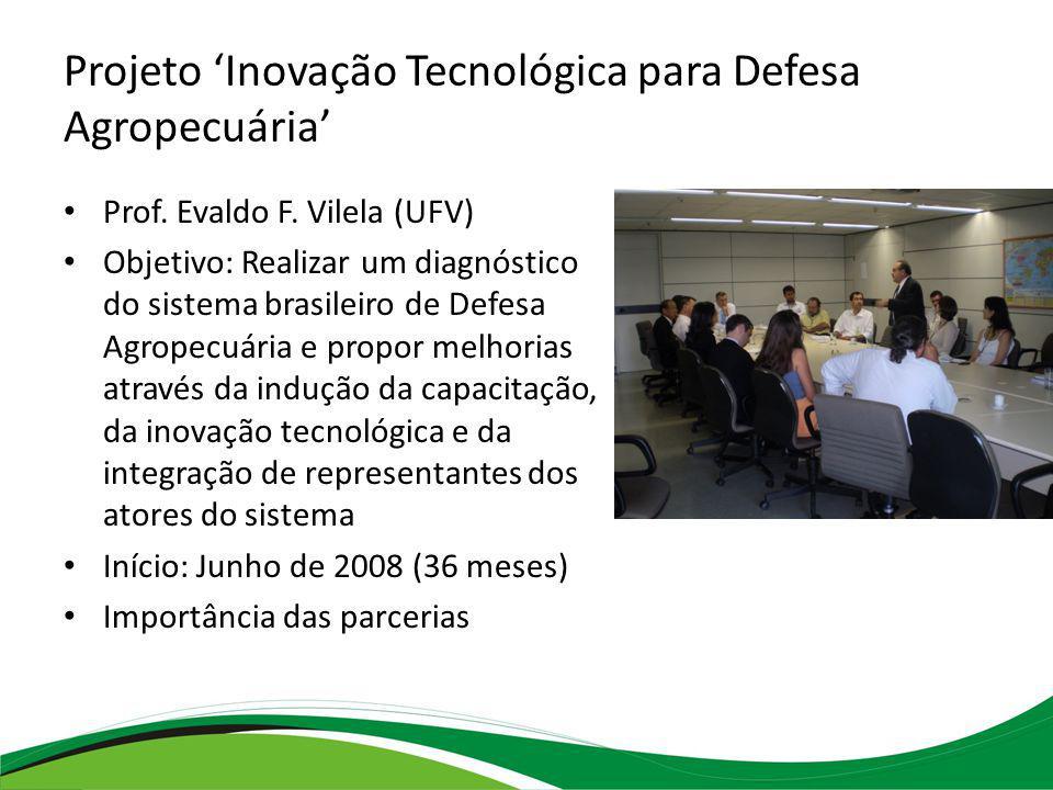 Projeto 'Inovação Tecnológica para Defesa Agropecuária'