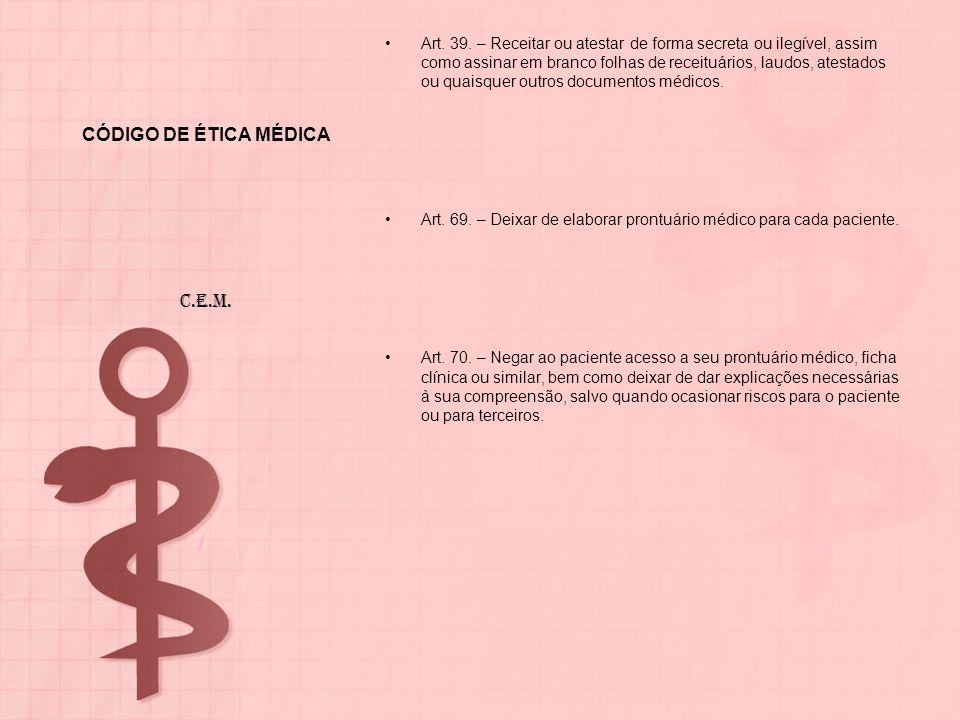 CÓDIGO DE ÉTICA MÉDICA C.E.M.