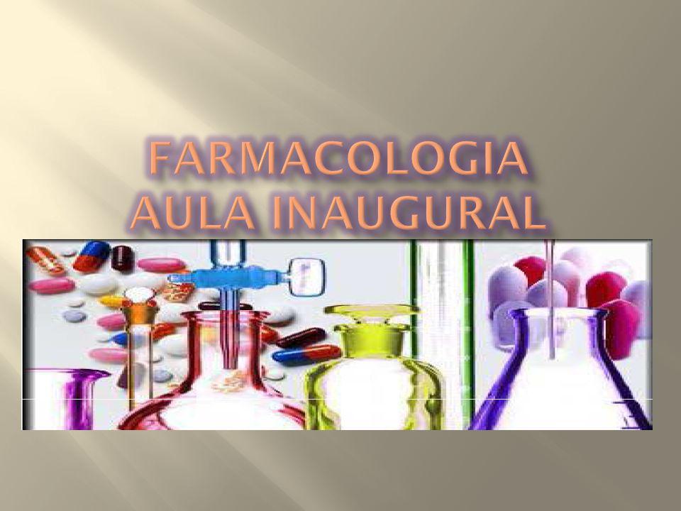 Farmacologia Aula inaugural