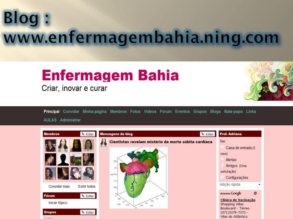 Blog : www.enfermagembahia.ning.com