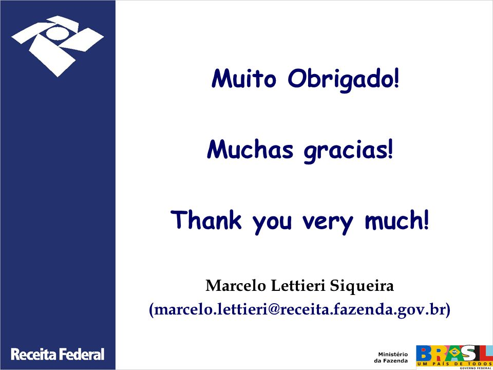 Marcelo Lettieri Siqueira (marcelo.lettieri@receita.fazenda.gov.br)