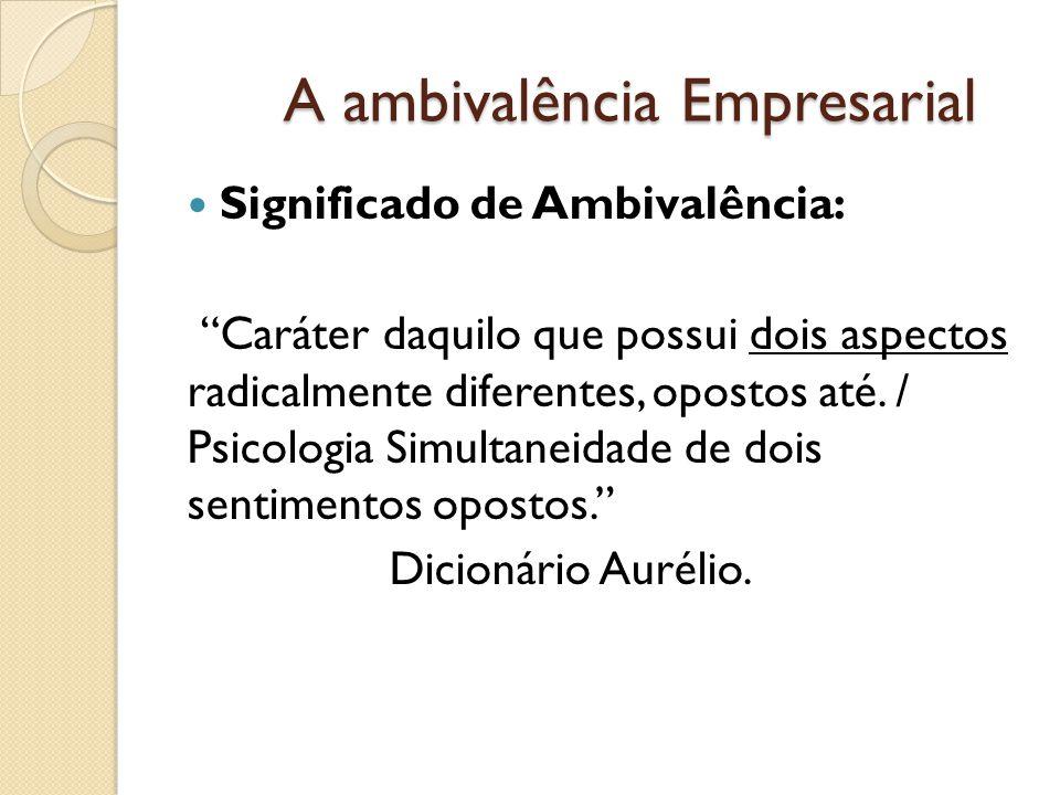 A ambivalência Empresarial