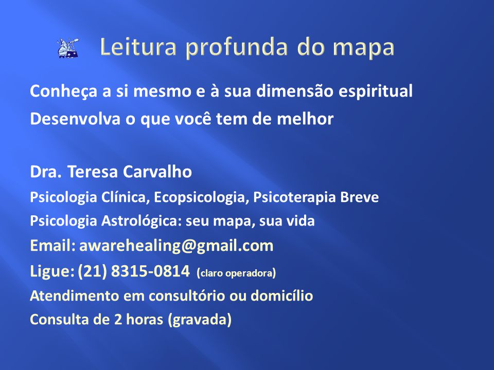 Leitura profunda do mapa