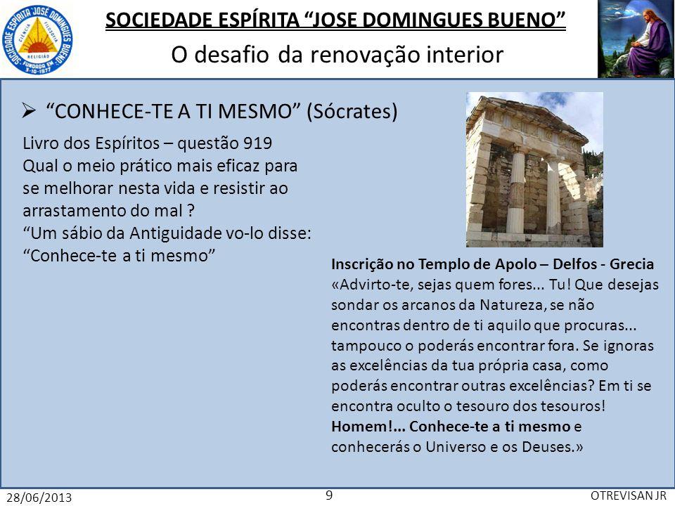 CONHECE-TE A TI MESMO (Sócrates)